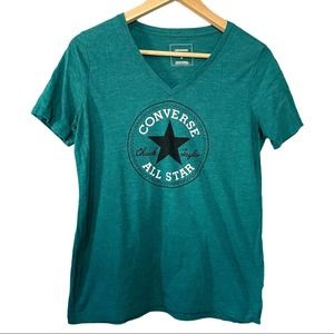 ✨5/$25 Converse Classic Fit Teal Logo graphic tee